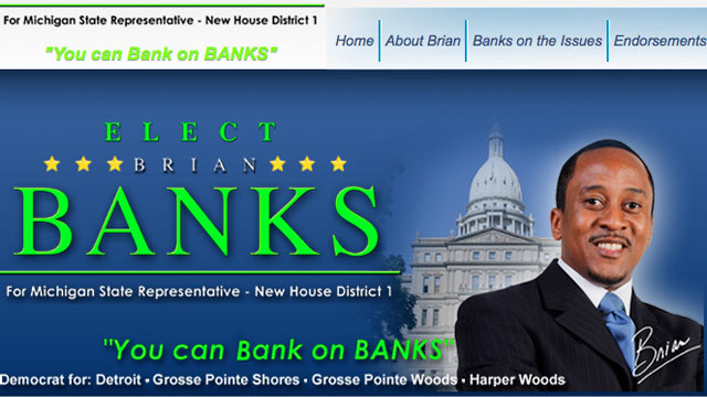 PHOTO: Brian Banks is running for Michigan State Representative, New House District 1.