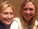 """PHOTO: Chelsea Clinton posted this selfie with her mom Hillary Clinton on Twitter, June 14, 2013, with the caption, """"My first #selfie w my mom @HillaryClinton back stage at #CGIAmerica. #ProudDaughter."""""""