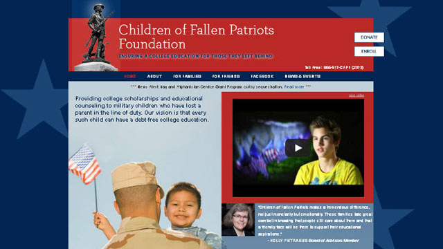 ht children of fallen patriots foundation lpl 130321 wmain Foundation to Cover Sequester Cuts to Iraq, Afghanistan Scholarships