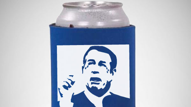 PHOTO: The Crying Boehner Can Koozie is available from the Democratic National Headquarters store.
