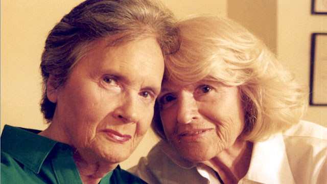 "PHOTO: Edith ""Edie"" Windsor, right, is pictured with Thea Spye."