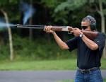 US Presidents Holding Guns