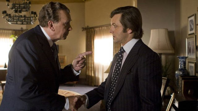 "PHOTO: Frank Langella and Michael Sheen star in ""Frost/Nixon."""