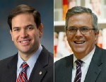 """PHOTO: Marco Rubio, left, and Jeb Bush, right, will appear on """"This Week""""."""
