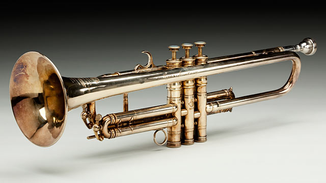 PHOTO: Louis Armstrong trumpet