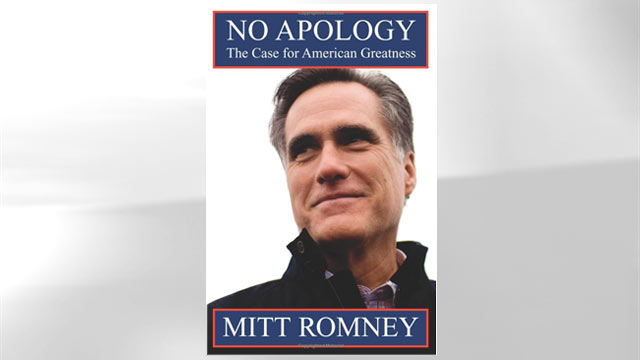 """The cover of the book """"No Apology: Believe in America"""" is shown."""