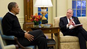 Barack Obama meets with John Brennan