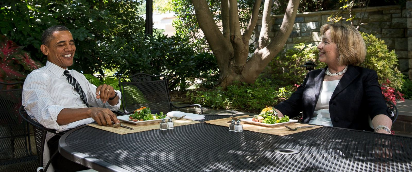 President Obama And Hillary Clinton Meet For Lunch At