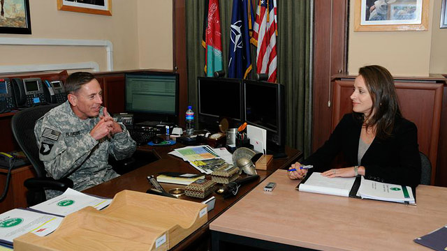PHOTO: Gen. David Petraeus and biographer Paula Broadwell are shown in this undated photo.