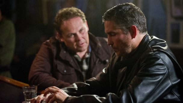 "PHOTO: In this file photo, Jim Caviezel, right, and Kevin Chapman, left, are pictured in an episode of ""Person of Interest"" which aired Dec. 17, 2013."