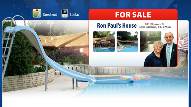 PHOTO: Ron Paul's home for sale