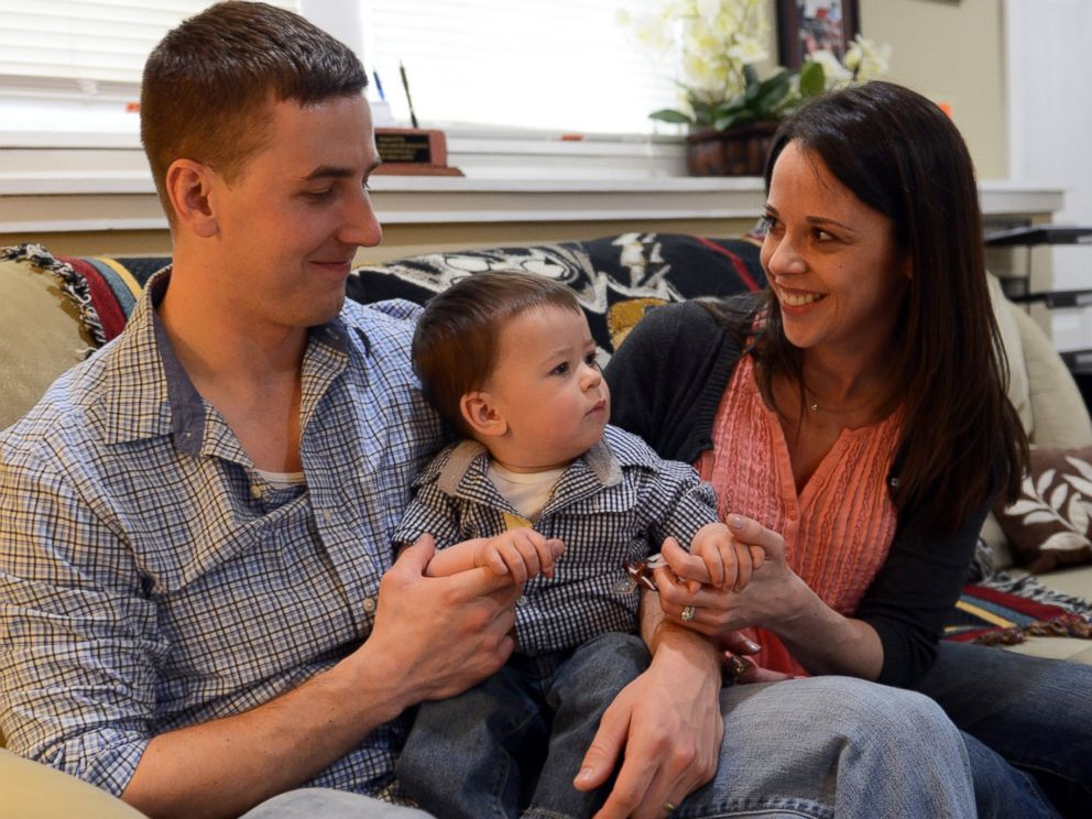 PHOTO: Pictured here in Nashua, N.H., in April 2014, are Ryan Pitts, Amy Pitts, and 1-year-old son Lucas.