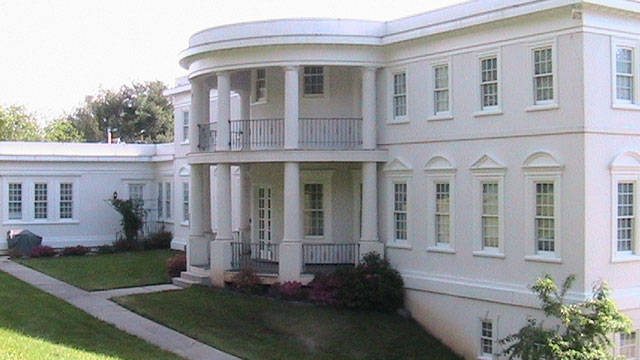 PHOTO: This house uses some of the design features of the White House, which would have to be scaled down to the size of a residence.