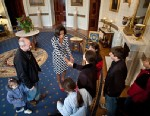 PHOTO: Michelle Obama greets guests on White House tour