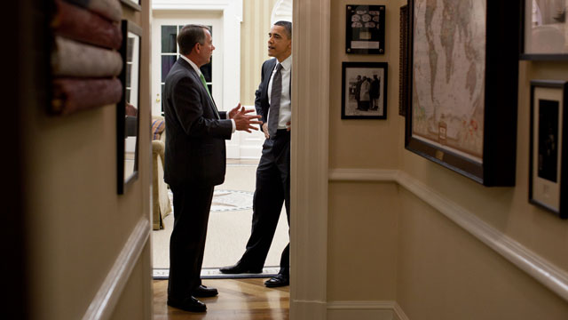 PHOTO: President Obama and House Speaker John Boehner engaged in secret meetings at the White House in an attempt to reach a historic spending and debt deal, which ultimately collapsed.