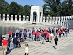 PHOTO: Stars and Stripes reporter Leo Shane III tweeted an image of WWII veterans entering their memorial in Washington, DC, Oct. 1, 2013.