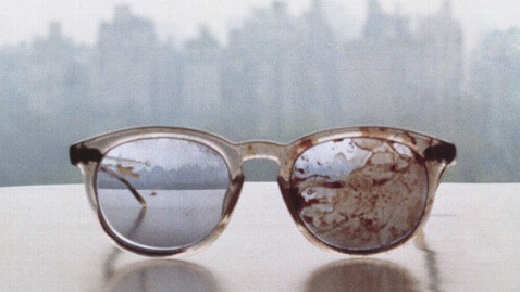 ht yoko ono kb 130321 wblog President Obamas Twitter Account Retweets Photo of John Lennons Bloody Glasses