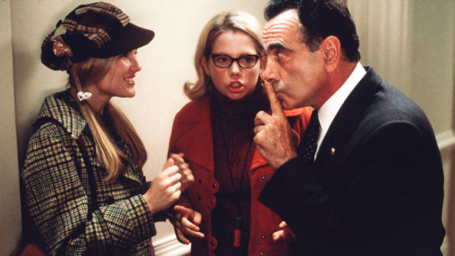 "PHOTO: Kirsten Dunst, Michelle Williams and Dan Hedaya star in the 1999 film ""Dick."""