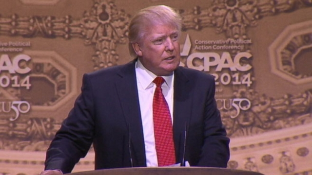 """Real Estate mogul referred to the former president as the """"late, great Jimmy Carter"""" in his CPAC speech."""
