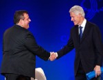 PHOTO: Former U.S. President Bill Clinton greets New Jersey Governor Chris Christie during the Clinton Global Initiative America meeting in Chicago, June 14, 2013.