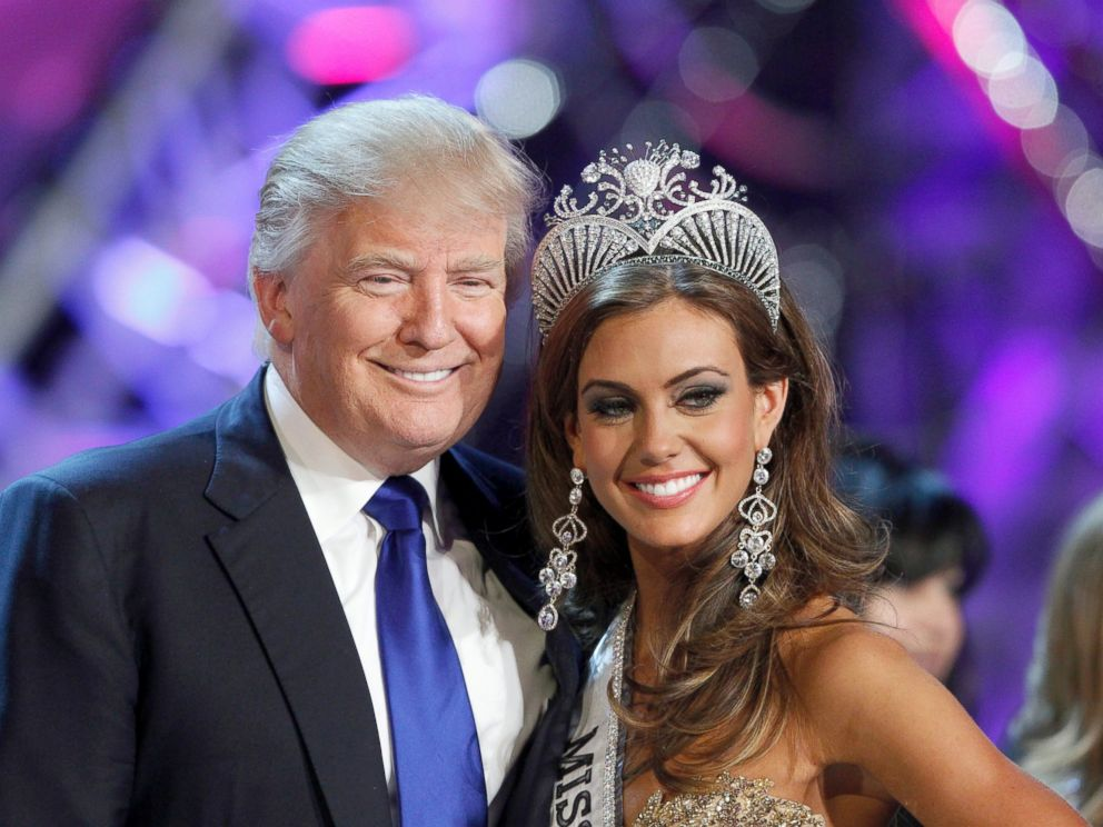 PHOTO: Donald Trump poses with Miss Connecticut Erin Brady at a news conference after she was crowned Miss USA 2013 at the Planet Hollywood Resort and Casino in Las Vegas, Nevada, June 16, 2013.