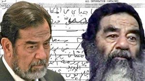 IMAGE: Saddams Notes