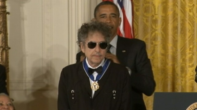 VIDEO: Music icon is one of 13 recipients of the highest civilian honor.