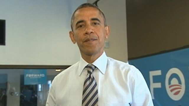 VIDEO: The president is confident his ticket will win despite polls showing a close race.