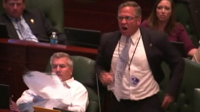 VIDEO: Rep. Mike Bosts tirade on the House floor came during debate over a bill.