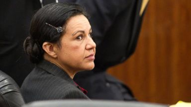 PHOTO: Ana Lilia Trujillo sits in the courtroom before opening arguments in her trial, March 31, 2014, in Houston.