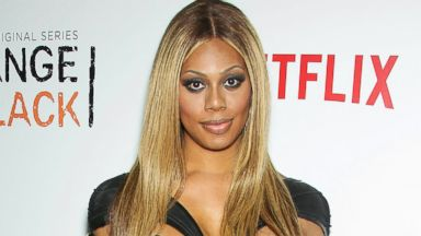 "PHOTO: Laverne Cox attends the second season premiere of ""Orange is the New Black,"" at the Ziegfeld Theatre in New York, May 15, 2014."