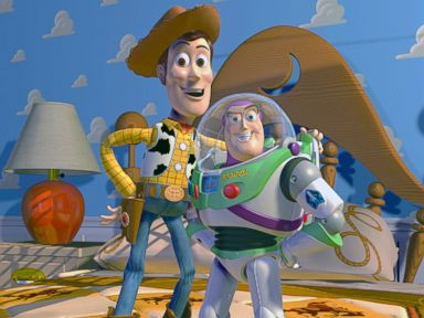 PHOTO: Disney Pixar shows characters Woody, left, and Buzz Lightyear from the animated film Toy Story.