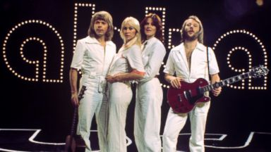 PHOTO: Musical group, ABBA, seen in 1974.