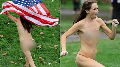 PHOTO: Presidents Cup Streaker