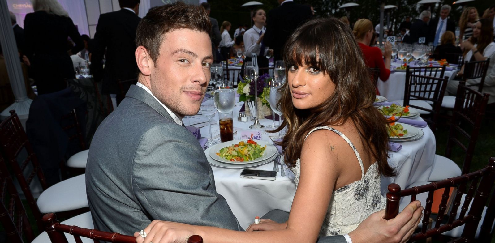 PHOTO: Cory Monteith, left, and Lea Michele attend the 12th Annual Chrysalis Butterfly Ball on June 8, 2013 in Los Angeles.