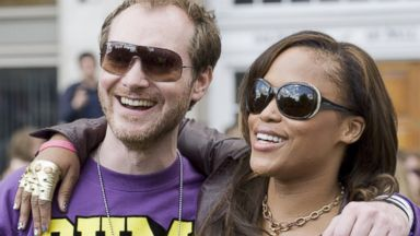 PHOTO: Maximillion Cooper and Eve at the start of the Gumball 3000 Rally, May 7, 2010, in London.