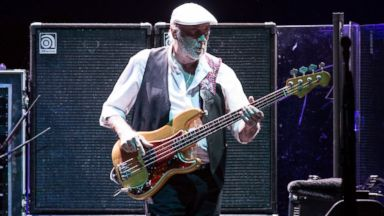 PHOTO: John McVie from Fleetwood Mac performs at Bercy in Paris, France, Oct. 11, 2013.