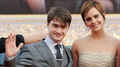 PHOTO: Actors Daniel Radcliffe, left, and Emma Watson attend the World Premiere of Harry Potter And The Deathly Hallows Part 2 in Trafalgar Square on July 7, 2011 in London.