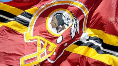 PHOTO: A Washington Redskins flag flies at FedExField in Landover, Md., Sept. 22, 2013.
