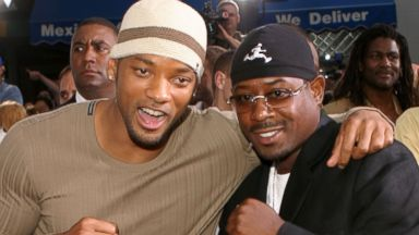 """PHOTO: Will Smith and Martin Lawrence are seen during """"Bad Boys II"""" World Premiere at Mann Village in Westwood, Calif., in this file photo, July 9, 2003."""