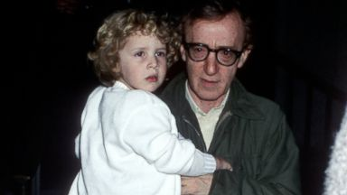 PHOTO: Woody Allen and Dylan OSullivan Farrow are at Mia Farrows apartment in New York City on May 2, 1989.