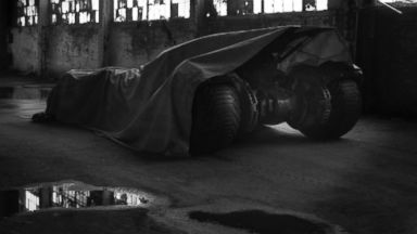"""PHOTO: Zack Snyder posted this photo on Twitter with this caption: """"Could be time to pull the tarp...Tomorrow?"""" May 12, 2014."""