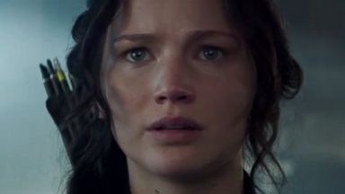 "PHOTO: Jennifer Lawrence as Katniss Everdeen in a scene from the official teaser trailer for ""The Hunger Games: Mockingjay Part 1"""