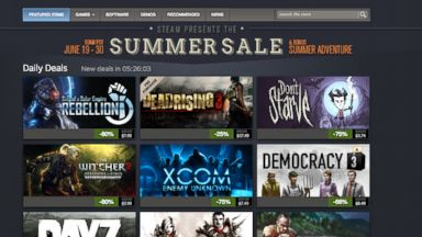 PHOTO: The annual Steam Summer Sale has begun with ongoing sales for the rest of the month.
