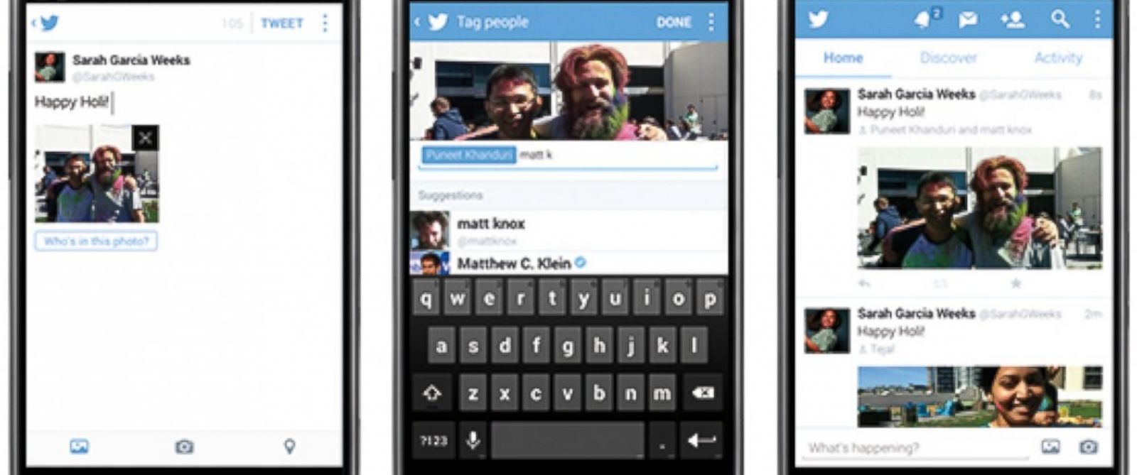 PHOTO: Twitters new photo tagging feature.