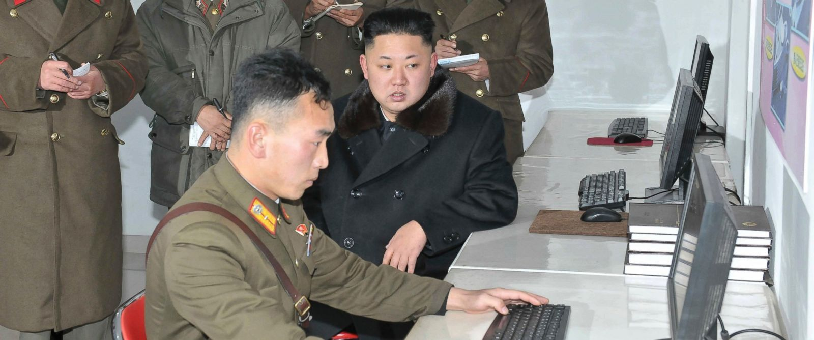 PHOTO: Kim Jong-un visits the Designing Institute of the Korean Peoples Army in Pyongyang on Dec. 14, 2013.