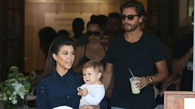 PHOTO: Kourtney Kardashian, Penelope Disick and Scott Disick are seen on Aug. 1, 2013 in Los Angeles.