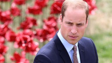 PHOTO: Prince William, Duke of Cambridge attends the ceramic poppy field of remembrance at Tower of London on August 5, 2014 in London, England.