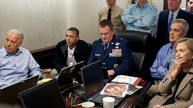 PHOTO: President Barack Obama and Vice President Joe Biden, along with members of the national security team, receive an update on the mission against Osama bin Laden in the Situation Room of the White House, May 1, 2011.