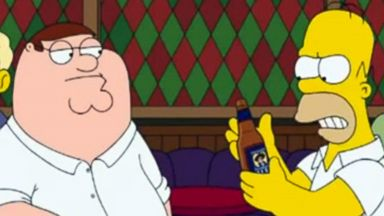 PHOTO: A still is pictured from the Simpsons/Family Guy crossover episode that was shown at Comic-Con 2014.